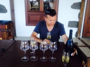 Conrad Grah miembro de The Wine Wankers en Bodegas Los Bermejos