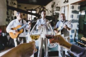 Brindis con vinos de denominación de origen Lanzarote