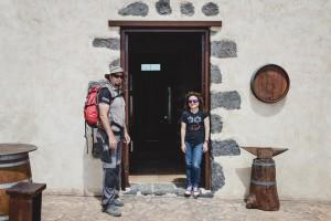 Nacho y Nereida tras terminar la ruta de senderismo