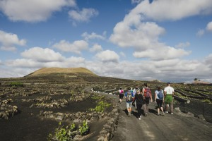 Ruta de senderismo en torno a las bodegas de Lanzarote