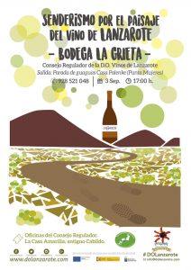 Senderismo en Lanzarote enoturismo verano 2017 Bodega La Grieta