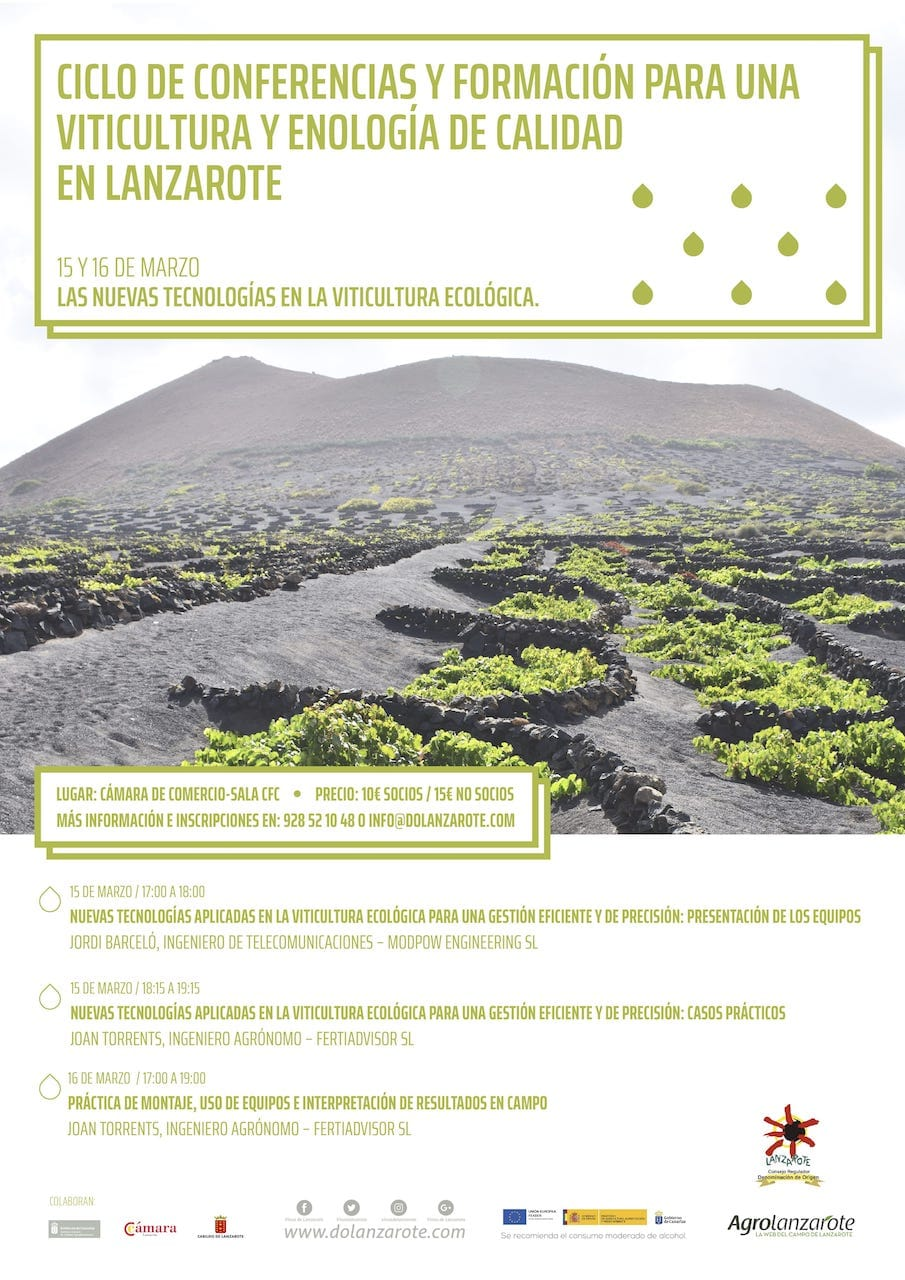 Cartel-ciclo-conferencias-de-viticultura-y-enología-ecológica-en-Lanzarote-2018