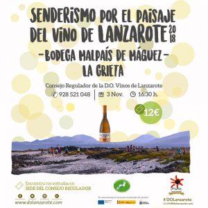 Senderismo-paisaje-del-vino-de-Lanzarote-2018-Bodega-La-Grieta