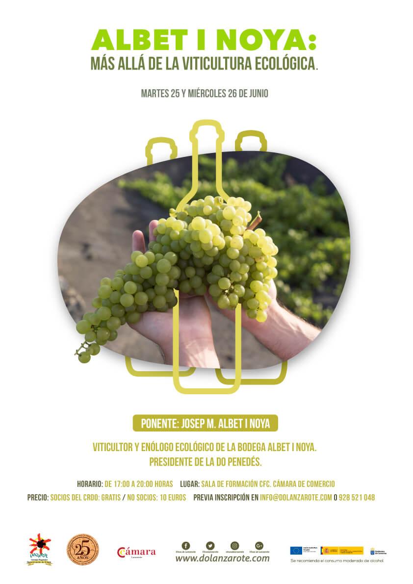 Charlas viticultura ecológica en Lanzarote Albet i Noya junio 2019