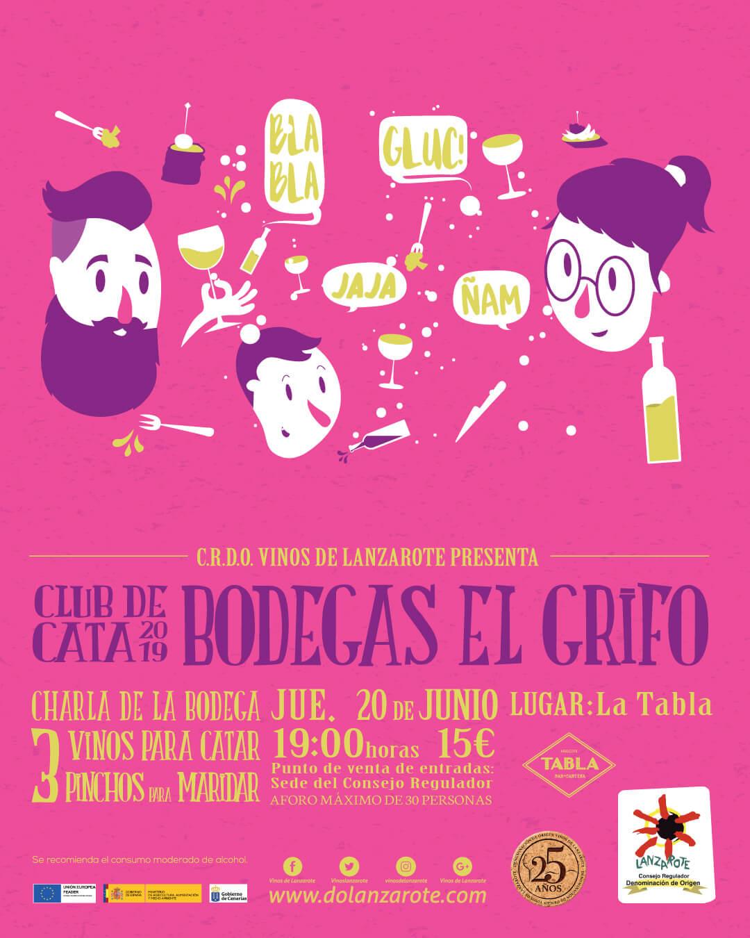 Club de Cata de vinos DO Lanzarote Arrecife junio 2019