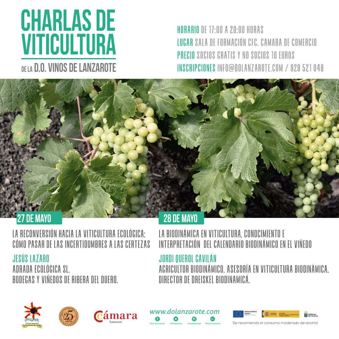 Charlas de viticultura ecológica y biodinámica en Lanzarote Jesús Lázaro Adrada Jordi Querol Dreiskel Biodinámica