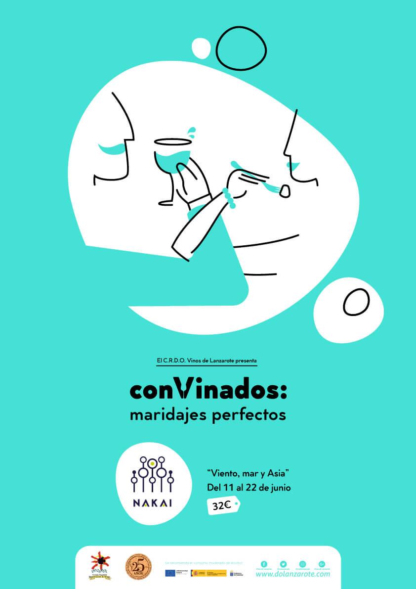 Convinados maridajes perfectos del restaurante Nakai y vinos con denominación de origen Lanzarote junio 2019