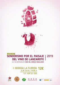 Senderismo vinos de Lanzarote a Bodega La Florida julio 2019